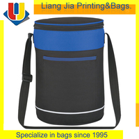 PEVA Lining Cans Round Insulated Cooler Bag