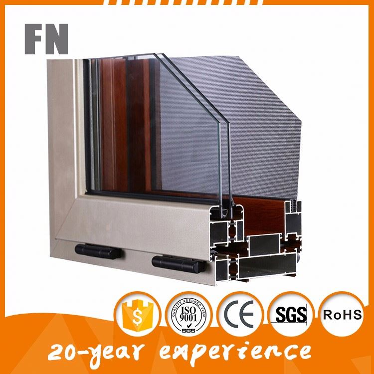 Modern mill finish aluminum extrusion profile for window and door