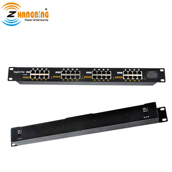 Gigabit Passive PoE 16 Port PoE Injector Patch Panel for IP Cameras (like Hikvision), IP Phones, AP