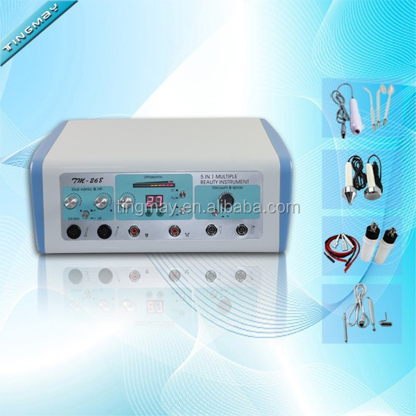 High frequency electrotherapy facial toning machine
