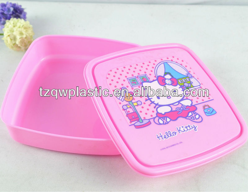 Eco-Friendly Feature Plastic lunch box,sandwich box for kids