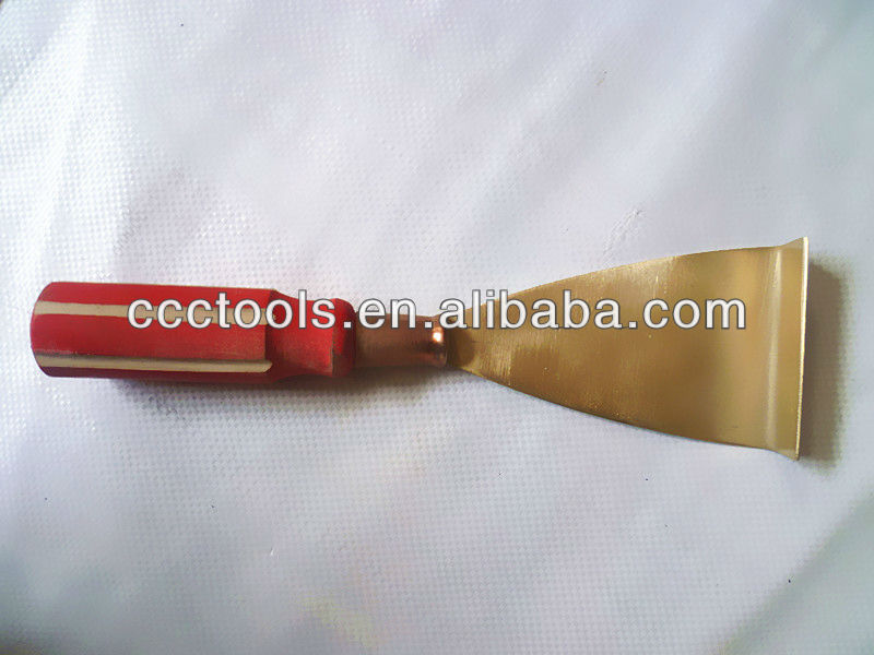 75mm Anti Spark Aluminum Bronze Cleaning Rust Hoe non-sparking safety tools non spark <strong>knife</strong>
