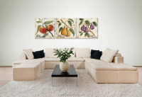 newest fruits glass painting printed on glass surface