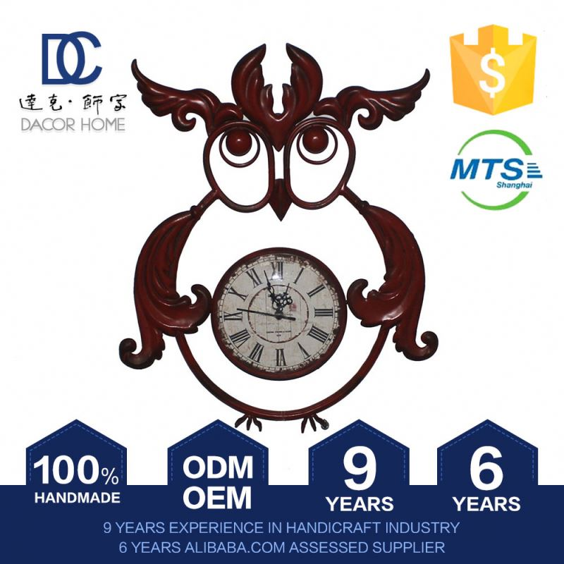 High Standard Antique Direct Factory Price Decorative Antique Wall Clock With Pendulum