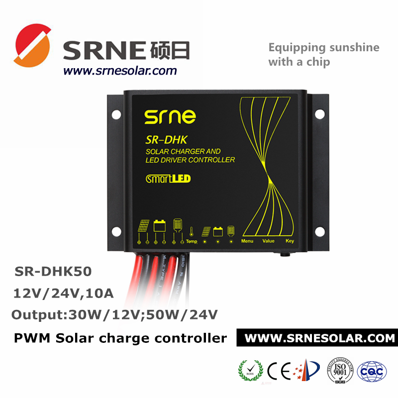 Adjusted By One Key Solar Charge Controller/Solar Panel Controller For 12V/24V