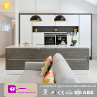 LINGYIN factory direct sale affordable modern open style laminate kitchen cabinets