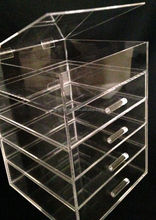 5 tiers luxury excellent clear acrylic makeup organizer manufacturer