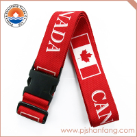 Factory sale polyester luggage belt/luggage strap with custom logo