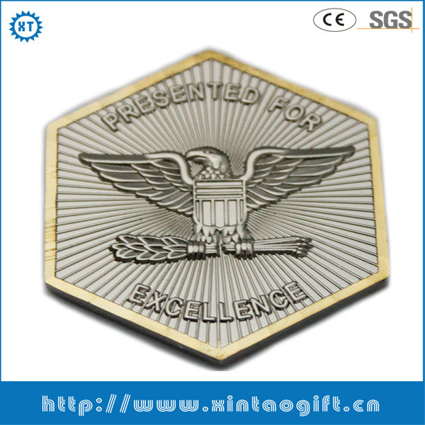 Novelty 2 inches customized eagle logo souvenir coins