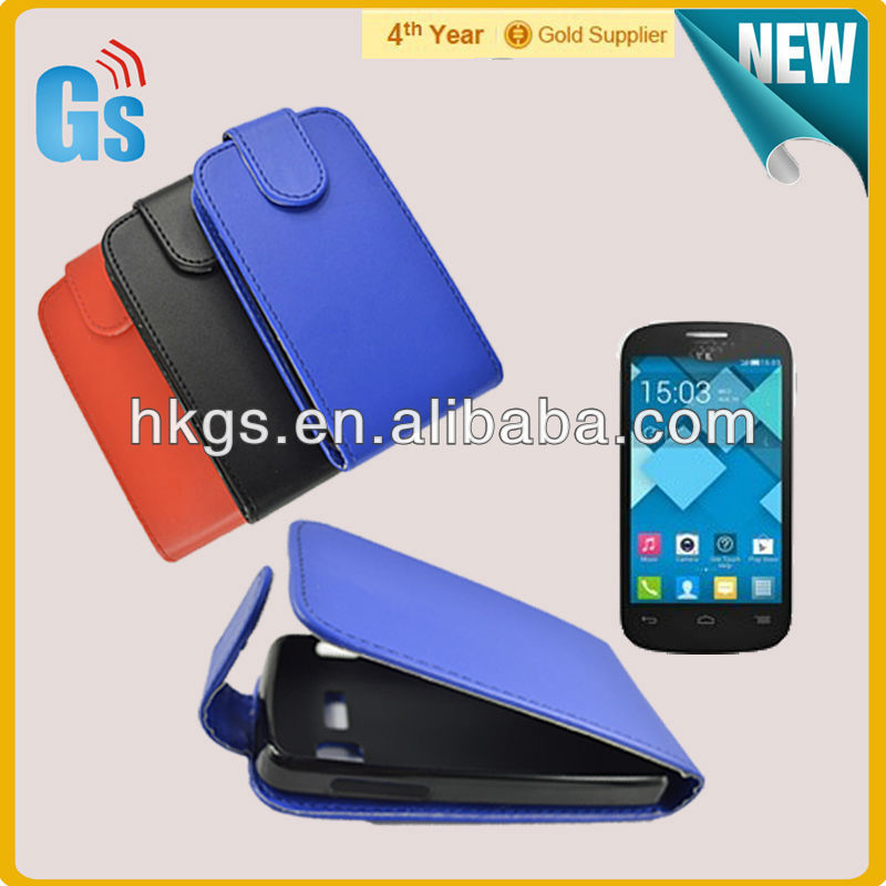 For alcatel c3 4033 for digicel dl700 flip leather case