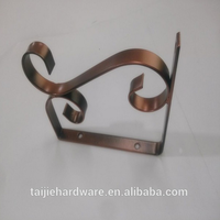 Garden Decorative Glass Shelf Bracket Support