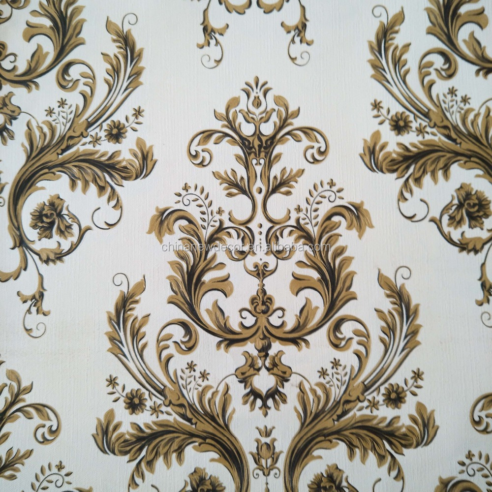 super quality durable wallpaper in gold color