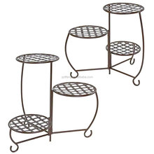 Bronze Triple Planter Stand Shelf Holds Flower Pot