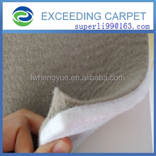 nonwoven acoustic felt fabric for wall covering with needle punch