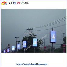 Pakistan outdoor Kinglight Nationstar LED advertising Board P10 SMD led pole screen