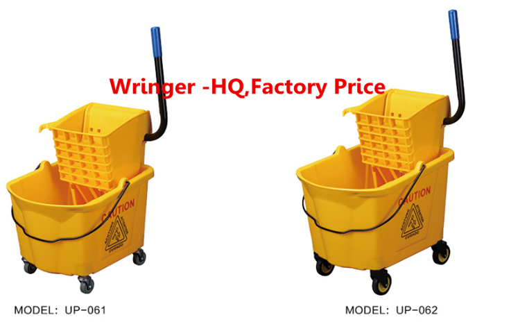 glide bucket with wringer Plastic 4 wheels Restaurant And Hotel Mini Mop Wringer