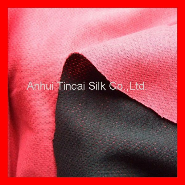 Polyester 2 colour boned fabric