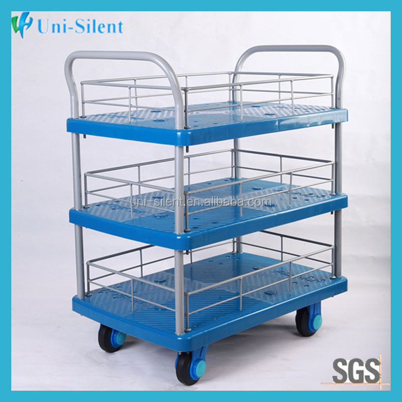 3 Tier Vegetable Fruit Trolley Rack Shelves Basket Storage Cart PLA150-T3-HL3-D