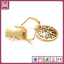 Hollow Out Leopard simple gold Earring Designs for women