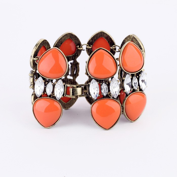 Vintage Design Double <strong>Orange</strong> Layered High Quality Accessory Bracelet