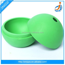 Ball shape silicone colorful ice cube tray with lid