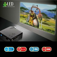 Winait GP07S 1080P 120 Lumens Portable Mini LED Projector for Home Theater, Support HDMI + 12 Languages