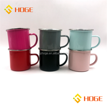 Personalized Custom Small Order Solid Color Camping Enamel Mug Sublimation Coffee Beer Mug Wholesale