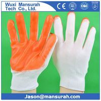 DDSAFETY hot sale rubber gloves Yellow latex household gloves CE DHL303 Safety Gloves