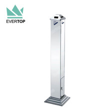 TS-FCB01 Free Standing Stainless Steel Outdoor Bin Cigarette Ashtray Stand