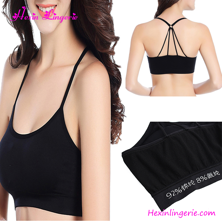 Wholesale Nylon Padded Gym Fitness Sport Bra Women