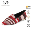 Colorful fabric customer made casual shoes italian women casual shoes