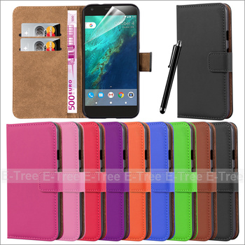 2017 new products pu leather flip case for google pixiel ,for google pixiel leather case with screen protector and pen