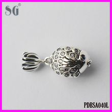 DIY Large Hole Charm Silver Beads_European Fashion 925 Silver Cute Gold Fish_AAA High Grade Zircon Stones Manufacturer Beads