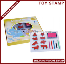 Promotional price with good quality, EVA Foam Stamp Set with animal pattern decorated
