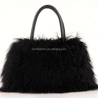Wholesale Genuine Mongolian Lamb Fur Bag for Fashionable Ladies with Cheap Price Fur Bag