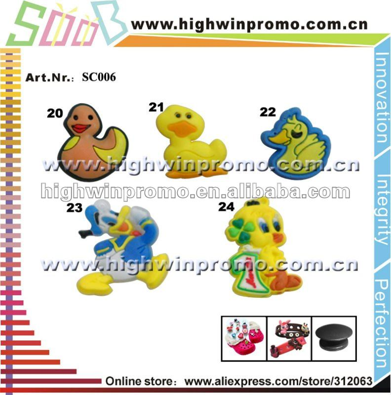 Hot Sale Duck Design pvc Shoe Charms