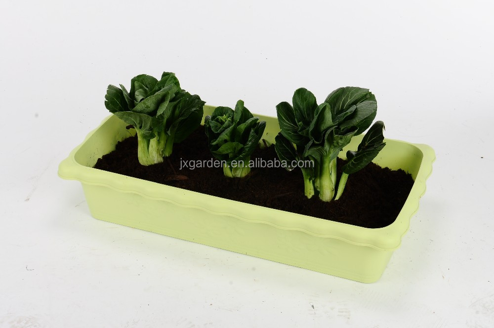 rectangle outdoor vegetable plastic flower pots