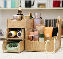 cosmetic storage box wooden office desktop DIY Korean jewelry cassette storage box drawer