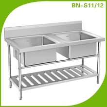 Used commercial stainless steel sinks/double bowl sink for restaurant kitchen/Designed kitchen sink