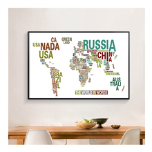 Home Decors Oil Map Pattern Canvas Painting Wall Art