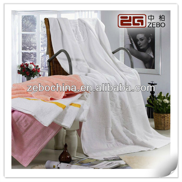 High Quality Star Hotel Used Luxury Cotton 16S Jacquard Bath Towel