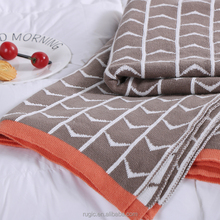 Fashion Sofa Decoration Throw Winter Cotton Woven Thick Tv Knit Cozy Blanket