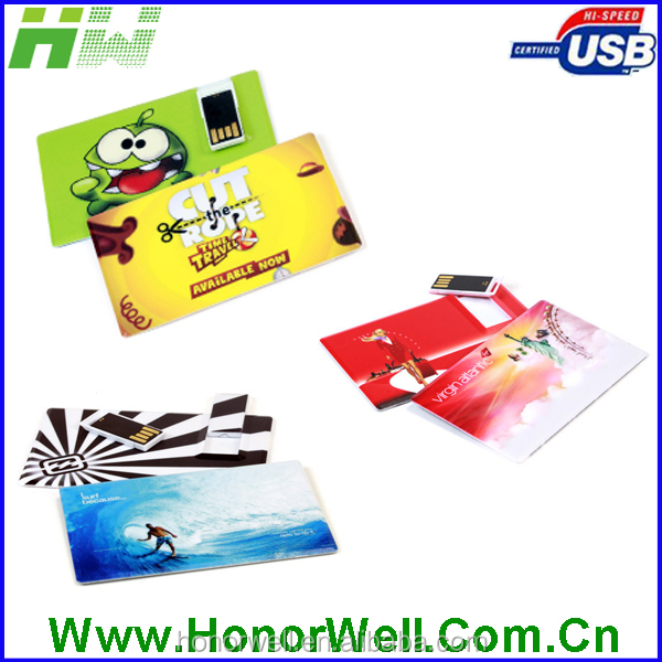 Upper Part Slide Usb Card With Full Area Printing & UV Printing & High Solution Digital Printing