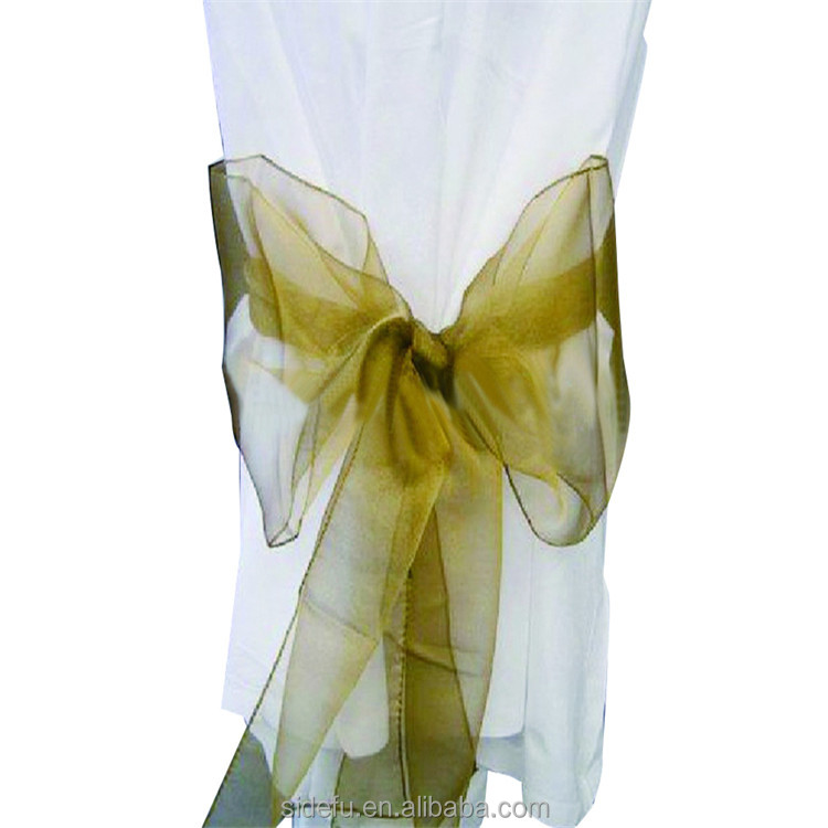 Fancy Various Hotel Banquet Spandex Ruffle Satin Chair Sash