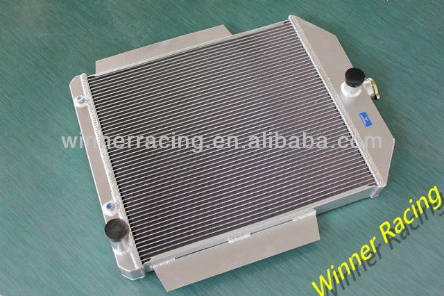 56MM ALUMINUM RADIATOR FOR FORD F1-F8 TRUCK/PICKUP 48-52 W/CHEVY L6/V8 MOTOR SWAP AT