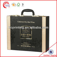 High Quality Leather Wine Packaging Box With Handle