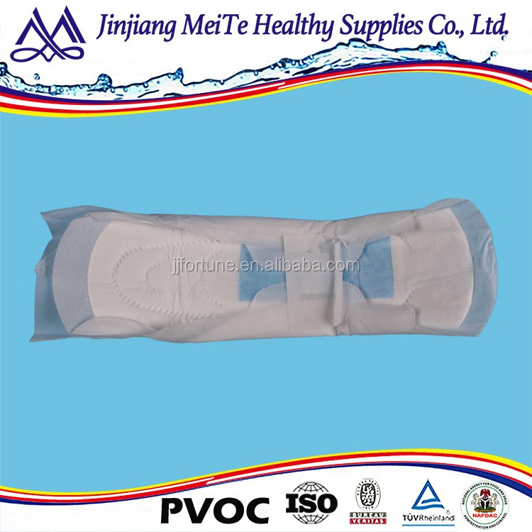 China good supplier High Absorbent Cotton soft ladies sanitary pads/ Lady female sanitary napkin
