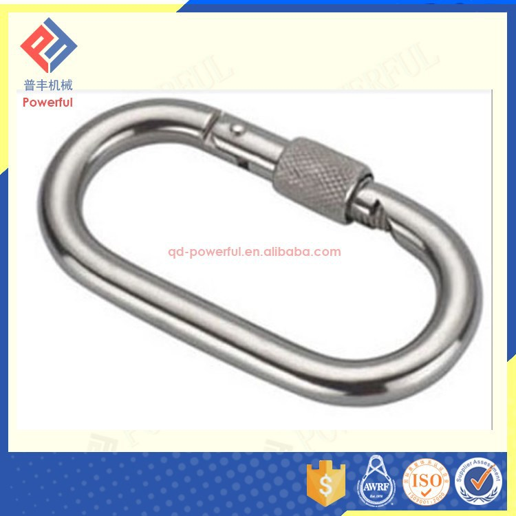 High Quality Surface Treated Straight Type Triangle Carabiner Hook with Screw