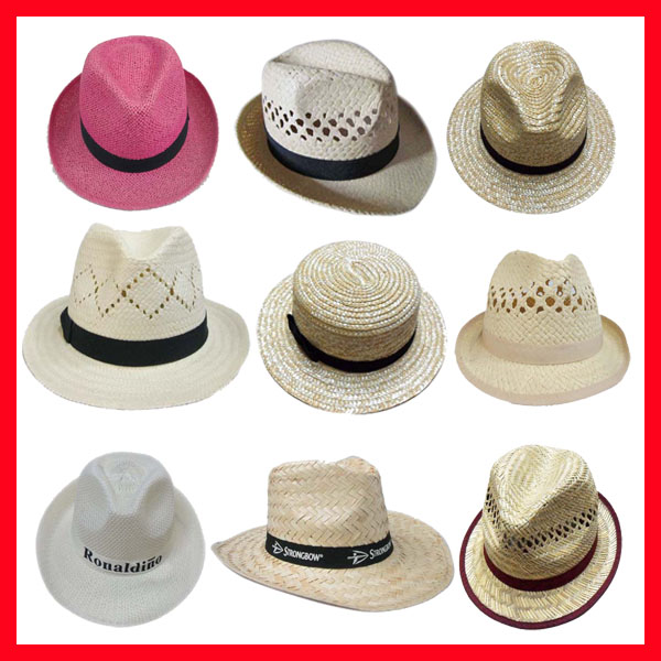 Promotion straw boater hat custom Straw Hat blank wholesale