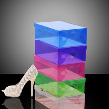 durable plastic storage box for shoe for display